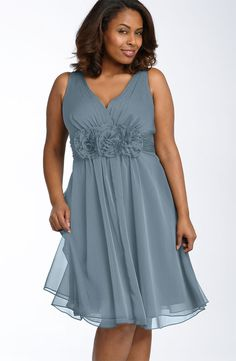 Free shipping and returns on Adrianna Papell Rosette Trim Dress (Plus) at Nordstrom.com. Floaty chiffon dress is styled with a flattering pleated crossover bodice and three oversized blossoms that grace the Empire waist, wrapped with a ruched sash to emphasize the narrowest part of your figure before releasing to a full, swirly skirt.