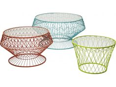 Stolik Kawowy Wire Colore (3/Set)