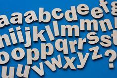 Alphabet magnet set wood 45 piece by XyKit on Etsy