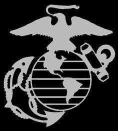 USMC Marine Corps Eagle Globe Anchor EGA Vinyl Decal Sticker ...