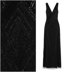 Frock and Frill Teona Gown Art Deco Maxi Dress Black Embellished UK 12 14 Flapper Dresses, Party Dresses, Formal Dresses, Frock And Frill, Body Shapes, Gatsby, Frocks, 1920s, Dress Black