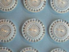 vintage glass ribbed buttons. Circa 1930, from Paris, on original card
