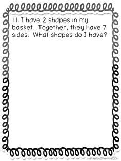 Do you need to get your kids solving problems and explaining their thinking without looking for that one right answer? Try this set of Geometry math journals! Students work on these journal prompts independently, with a partner, or small groups. A majorit Math Classroom, Kindergarten Math, Teaching Math, Classroom Ideas, Math Journal Prompts, Math Notebooks, Writing Prompts, Math Problem Solving, Solving Equations