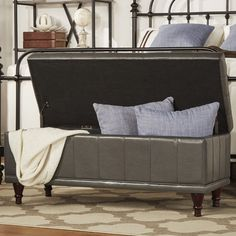 Found it at Wayfair.ca - Leather Storage Bedroom Bench