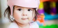 Early Helmet Therapy Yields Better Results for Infants With Flat Head Syndrome Pediatric Physical Therapy, Pediatric Ot, Occupational Therapy, Baby Head Shape, Plagiocephaly Helmets, Vintage Baby Girl Names, Baby Helmet, Flat Head, Be My Baby