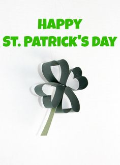 DIY Paper Shamrock - Family Food And Travel