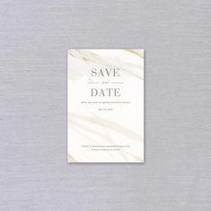 Vera Wang Calacatta Save the Date | Crane Stationery