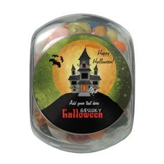 Haunted House Halloween Jelly Belly Candy Jars