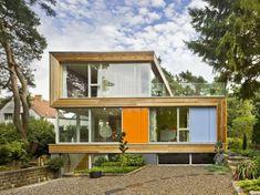Fertighaus holz glas  fertighäuser gerade linien holz glas | Home | Pinterest | gerade ...