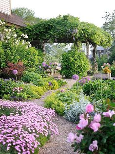 Lush, Magical Flower Garden with Pathway
