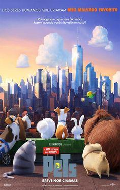 Novo trailer e pôster nacional do filme 'Pets: A Vida Secreta dos Bichos'