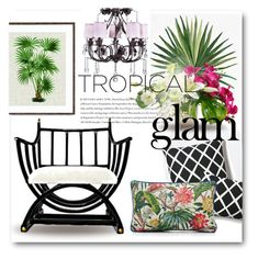 """Tropical Glamour no. 1"" by ellenawaters ❤ liked on Polyvore featuring interior, interiors, interior design, home, home decor, interior decorating, Envi, Pottery Barn, Serena & Lily and SCENERY"