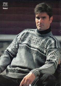 Herre genser - mønster under diagram