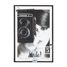 LENS vintage canvas, wood 76 x 110cm | Maisons du Monde