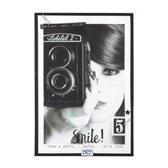 Vintage-Bild aus Holz 76 x 110 cm OBJEKTIV