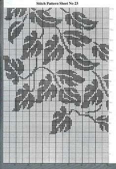 Pottery Filet crochet tutorial, Filet crochet charts,… – Awesome Knitting Ideas and Newest Knitting Models Tapestry Crochet Patterns, Knitting Paterns, Fair Isle Knitting Patterns, Crochet Bedspread, Crochet Curtains, Knitting Charts, Knitting Stitches, Crochet Tree, Crochet Leaves