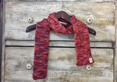 Multicolored Skinny Handmade Knitted Scarf