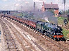 46148 The Manchester Regiment Diesel Locomotive, Steam Locomotive, Steam Trains Uk, Transport Pictures, Railroad Pictures, Steam Railway, Train Art, British Rail, Old Trains