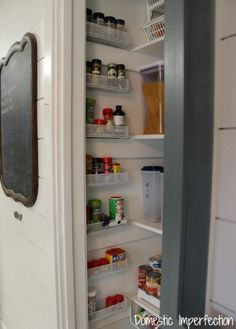 Utilized wasted space in your pantry - use drawer organizers as a spice rack. Other great tips through this link as well!