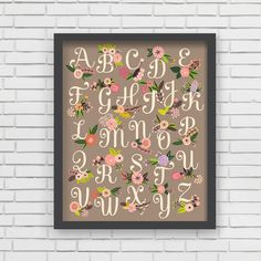 "Lil' Learner Alphabet Art Print - Lucy Darling - use coupon code ""babylove"" to receive 10% off, expires 12/31/14"