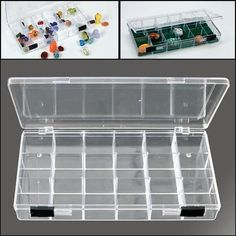 Amazon.com: SAFE Rock Collection Box with 18 Compartments & 2 Sliding Latches: Toys & Games Display Boxes, Display Case, Postcard Album, Rock Box, Transparent Box, Rock Collection, Displaying Collections, Rocks And Minerals, Travel Size Products