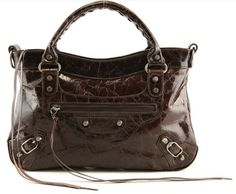 FREE SHIP Stunning Luxurious Chocolate Genuine Leather Tote