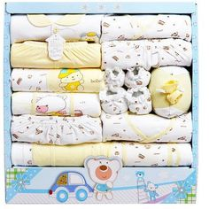 15pcs/set High Quality 100% Cotton Newborn Baby Clothing Gift Sets Infant Cute Suit Baby Girls Boys Clothes