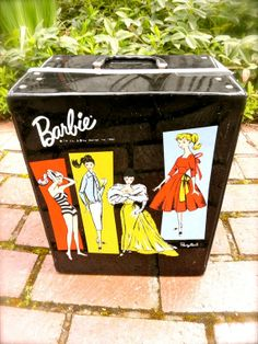 Ponytail Barbie Doll Case Trunk // Black // Vintage by JackpotJen, $22.00