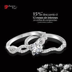 Anillo de Oro Blanco 14kt SKU: WG1430065A Diamante Redondo 0.28 quilates. Color- F, Claridad VS1 Laboratorio - GIA-DGC, SKU Diamante: 34540, Piedras Laterales:[42-0.005]= 0.21, Precio: $36,256.75 pesos M.N -15% = $30,818.25 pesos M.N. *Consulte términos y condiciones.  Churumbela de Oro Blanco 14kt SKU: WG1430065B Precio: $17,834.19 pesos M.N -15% = $15,159.05 pesos M.N. *Consulte términos y condiciones.
