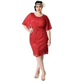 Plus Size Style Wine Red Angel Sleeve Lace Flapper Dress -- Be an angel this year for halloween with this amazing angel costume! Plus Size Vintage Dresses, Plus Size Dresses, Plus Size Costume, California Costumes, Flapper Costume, Angel Sleeve, 1930s Fashion, Halloween Dress, Costumes For Women