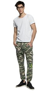 Pantaloni in twill camouflage M9508E.000.70409