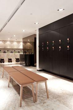 The Yoga Center, Locker Area | Kuwait City | Interior Design 2013 #modern…