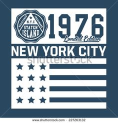 New York city typography, t-shirt graphics, vectors