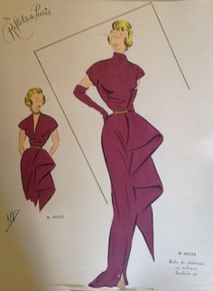 "From "" Croquis Couture"" - evening dress - year 1952"