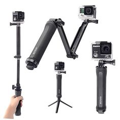 BESTEAM 3-way Grip Arm Tripod Handle Bracket Stabilizer for GoPro Hero 4 3+ 3 - http://our-shopping-store.com