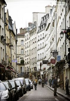 Rue Mouffetard, Paris The apartment is on this street Hannah. May!!!
