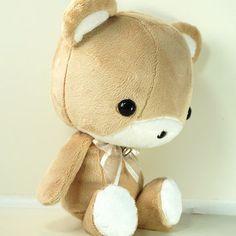 Cute Bellzi Stuffed Animal Brown w/ White Contrast Bear Plush.