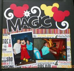 Love these kits:  Disney Magic from out on a limb scrapbooking page 1