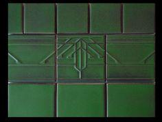 Arts & Crafts prairie tiles by Carreaux du Nord.