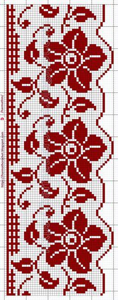 Beading Patterns Free, Crochet Flower Patterns, Crochet Flowers, Crochet Lace, Embroidery Patterns, Cross Stitch Patterns, Filet Crochet, Crochet Stitches, Knit Edge