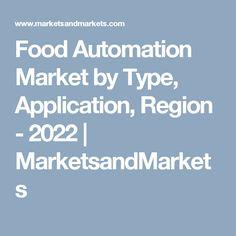 Food Automation Market by Type, Application, Region - 2022   MarketsandMarkets