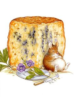 mouse and cheese cross stitch pattern by lutindescroix on Etsy Beatrix Potter, Cheese Art, Mouse Pictures, Marjolein Bastin, Pet Mice, Cross Art, Cute Mouse, Kitchen Art, Children's Book Illustration