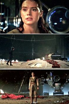 Rey is ready to go, but Kylo is in shock. I honestly think he did this just to save her life and didn't make the decision to ask her to rule with him until he walked up to Snoke's body.