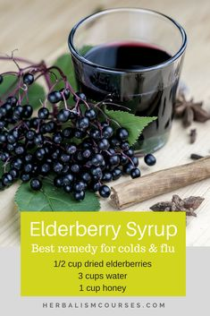 Remedies for Colds and Flu Elderberry syrup in the most effective herbal remedy for flu and cough. This DIY recipe has other benfits too.Elderberry syrup in the most effective herbal remedy for flu and cough. This DIY recipe has other benfits too. Cold Home Remedies, Natural Health Remedies, Herbal Remedies, Natural Remedies For Cough, Holistic Remedies, Acne Remedies, Natural Cures, Cough Remedies For Adults, Chest Congestion Remedies