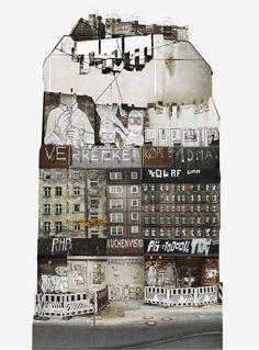 旅の思い出もコラージュしたい!都市の風景を集めた不思議なアート