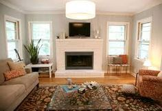 Image result for painted brick fireplace images