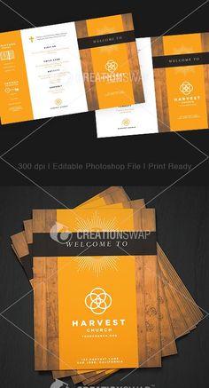 Media - Church Welcome Bulletins Church Bulletins, Church Outreach, Design Concepts, Design Ideas, Harvest Church, Church Logo, Church Fashion, Logo Design, Graphic Design