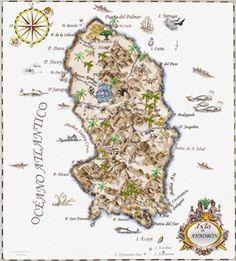 Ilustración del mapa de los Hmnos. clarentinos Maps