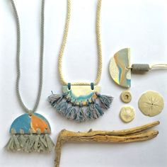 Polymer clay necklaces by Kelaoke on Etsy