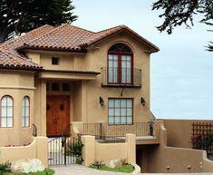 fachadas de casas bonitas de un piso | inspiración de diseño de interiores